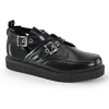 CREEPER-615 Black Leather
